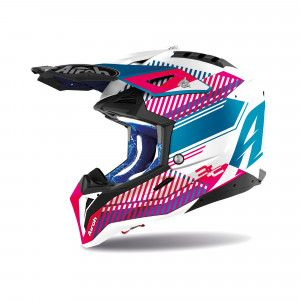 Airoh Aviator 3 Crosshelm Wave Pink/Blue