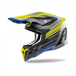 Airoh Stryker Crosshelm Shaded Grey/Fluor Yellow