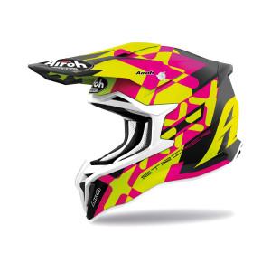 Airoh Stryker Crosshelm XXX Fluor Yellow/Pink