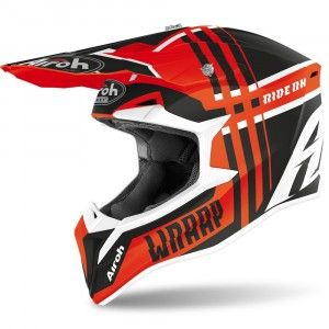 Airoh Wraap Crosshelm Broken Orange Gloss