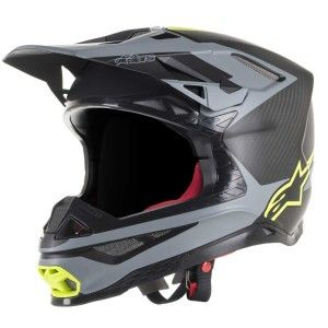 Alpinestars Crosshelm Supertech S-M10 Meta Black/Gray/Fluor Yellow