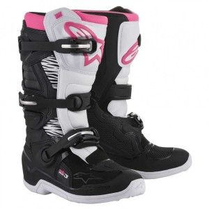 Alpinestars Dames Crosslaarzen Tech 3 Stella Black/White/Pink