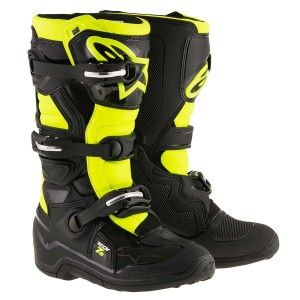 Alpinestars Kinder Crosslaarzen Tech 7S Black/Fluor Yellow-37 (EU)