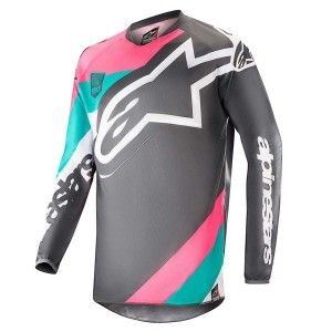 Alpinestars Crossshirt Racer Limited Edition Indy Vice Gray/Pink/Turquoise