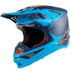 Alpinestars Crosshelm Supertech S-M10 Meta Black/Aqua/Fluor Orange