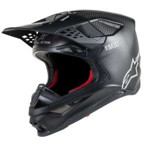 Alpinestars Crosshelm Supertech S-M10 Solid Black Matt/Carbon