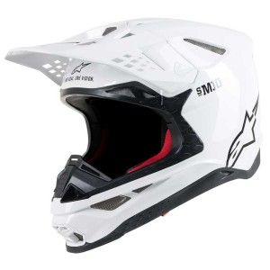 Alpinestars Crosshelm Supertech S-M10 Solid White Gloss