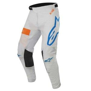 Alpinestars Crossbroek Racer Tech Atomic Cool Gray/Mid Blue/Fluor Orange