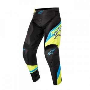 Alpinestars Kinder Broek Racer Supermatic Black/Blue/Fluor Yellow-24