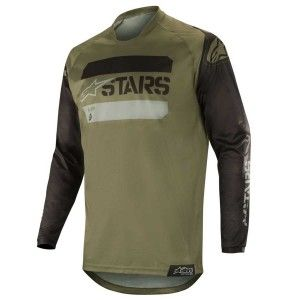 Alpinestars Crossshirt Racer Tactical Black/Military Green