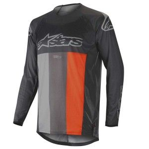 Alpinestars Crossshirt Techstar Venom Anthracite/Gray/Fluor Orange