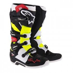 Alpinestars Crosslaarzen Tech 7 Black/Red/Yellow