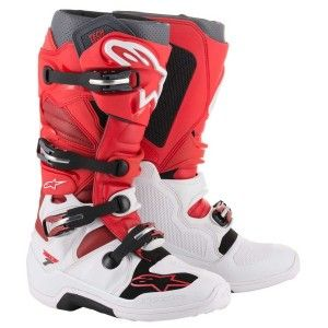 Alpinestars Crosslaarzen Tech 7 White/Red/Burgundy