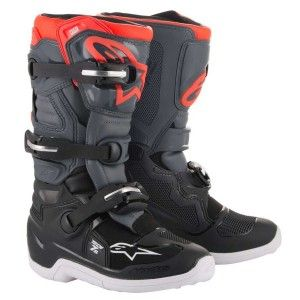 Alpinestars Kinder Crosslaarzen Tech 7S Black/Dark Gray/Fluor Red