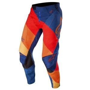 Alpinestars Crossbroek Techstar Venom Dark Blue/Red/Tangerine