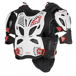 Alpinestars Body Protector A-10 White/Black/Red