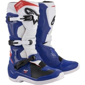 Alpinestars Crosslaarzen Tech 3 Blue/White/Red