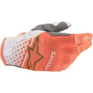 Alpinestars Techstar Crosshandschoenen White/Fluor Orange
