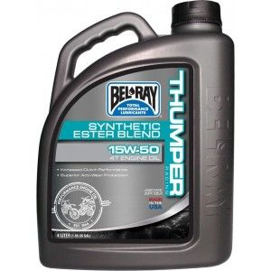 Bel-Ray Thumper Racing Synthetic 4T Olie 15W-50 4 Liter