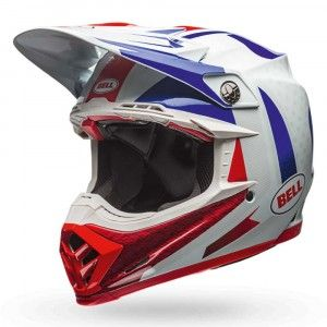 Bell Crosshelm Moto9 Flex Gloss Blue/Red Vice