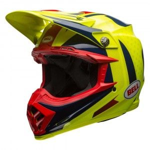 Bell Crosshelm Moto9 Flex Gloss Blue/Yellow/Red Vice
