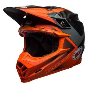 Bell Crosshelm Moto9 Flex Gloss/Matte Orange/Charcoal Hound