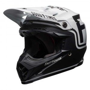 Bell Crosshelm Moto9 MIPS® Fasthouse Gloss /Matte Black/White
