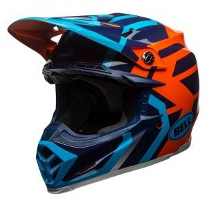 Bell Crosshelm Moto9 MIPS® Gloss Blue/Orange District