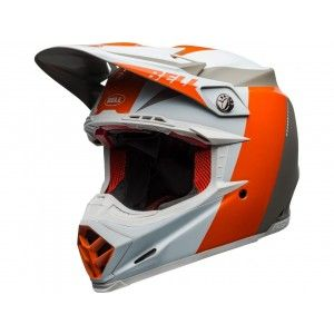 Bell Moto-9 Flex Carbon Crosshelm Division Orange/White