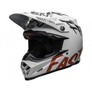 Bell Moto-9 Flex Carbon Crosshelm Fasthouse WRWF Matte Gloss White