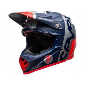Bell Moto-9 Flex Carbon Crosshelm Seven Galaxy Navy/Zilver