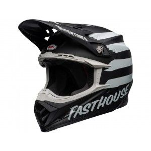 Bell Crosshelm Moto-9 Fasthouse Signia Matte Black/Chrome