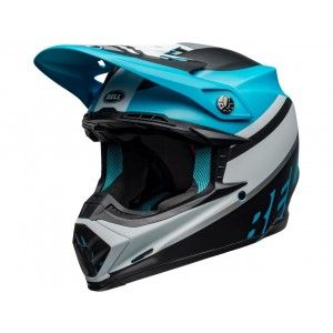 Bell Crosshelm Moto-9 Prophecy Matte Black/Blue