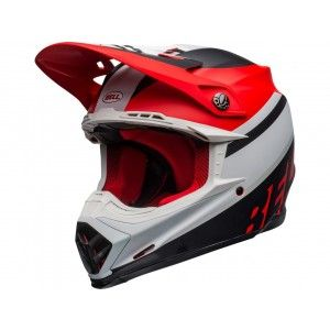 Bell Crosshelm Moto-9 Prophecy Matte Black/White/Red