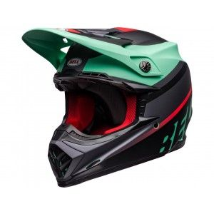 Bell Crosshelm Moto-9 Prophecy Matte Green/Black/Infrared