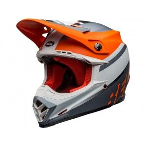 Bell Crosshelm Moto-9 Prophecy Matte Orange/Grey/White