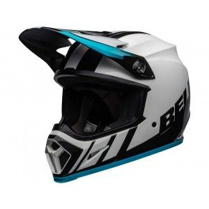 Bell Crosshelm MX-9 MIPS® Strike Dash White/Blue
