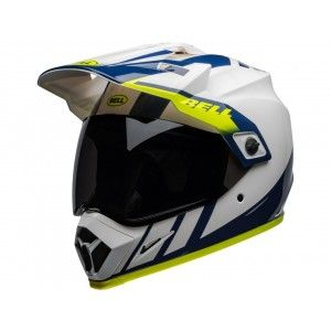 Bell Crosshelm/Endurohelm MX-9 Adventure MIPS® Dash Gloss White/Blue/Hi Viz