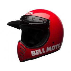 Bell Moto-3 Retro Crosshelm Classic Red