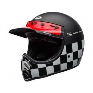 Bell Moto-3 Retro Crosshelm Classic Fasthouse Checkers Matte/Gloss