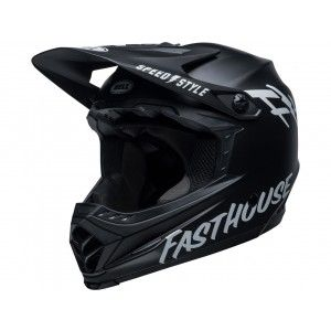 Bell Moto-9 MIPS Youth Crosshelm Fasthouse Matte Black/White