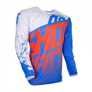 Shot Kinder Crossshirt Devo Venom Blue/White/Neon Orange
