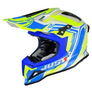 Just1 Crosshelm J12 Flame Yellow/Blue