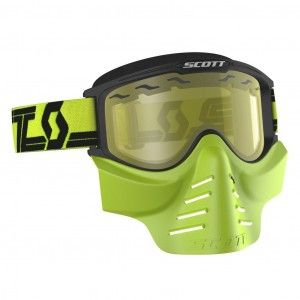 Scott Crossbril 83X Safari Facemask Neon Yellow/Yellow vented lens