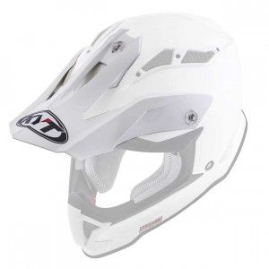 Kyt Strike helmklep-Kyt Crosshelm Strike Eagle Stripe White Red Fluor