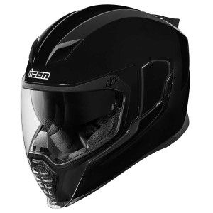 Icon Integraalhelm Airflite Gloss Solids Black