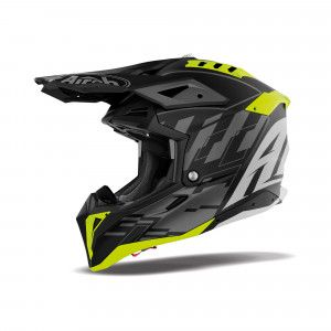 Airoh Aviator 3 Crosshelm Rampage Grey/Fluor Yellow