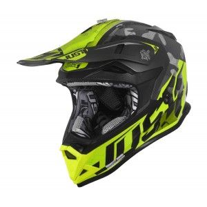 Just1 J32 Pro Crosshelm Swat Camo Matt Yellow Fluo