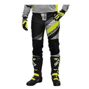 Jopa Crossbroek MX Devision Grey/Neon Yellow