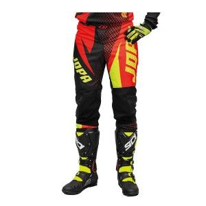 Jopa Crossbroek MX Elusion Neon Yellow/Red